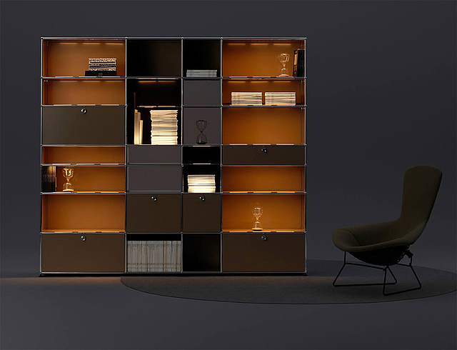 burger inneneinrichtung neu bei usm. Black Bedroom Furniture Sets. Home Design Ideas